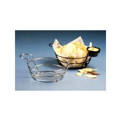 American Metalcraft - BSKC08 - Round Chrome Wire Basket with Ramekin Holders image
