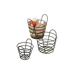 American Metalcraft - BWB750 - 7 in x 5 in Round Black Wire Basket image