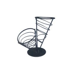 American Metalcraft - FCB22 - Ironworks™ Two-Cone Conical Basket image