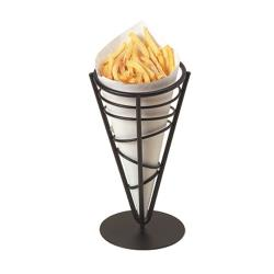American Metalcraft - FFB59 - Ironworks™ Wrought Iron Conical French Fry Basket image