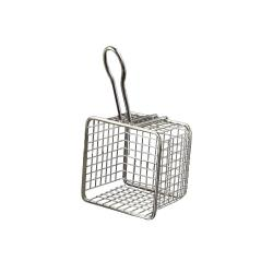 American Metalcraft - FRYS443 - Mini 4 in x 4 in Stainless Steel Fry Basket image