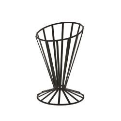 American Metalcraft - FWB4 - 4 1/2 in Flat Coil Slanted Conical Basket image