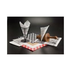 American Metalcraft - PPCH1B - 12 in x 12 in Checkerboard Fry Paper image