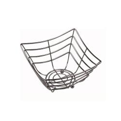 American Metalcraft - SCB480 - 8 in Square x 4 in Chrome Web Basket image