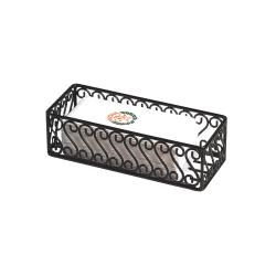 "American Metalcraft - SFBB5312 - Ironworks™ 12"" x 5"" Scroll Wrought Iron Basket image"