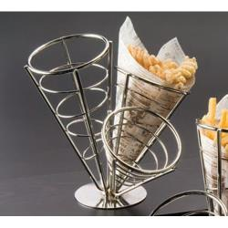 American Metalcraft - SS33 - Ironworks™ Stainless Steel 3-Cone Basket image