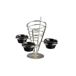 American Metalcraft - SS93 - Stainless Steel Fry Basket w/3 Holders image