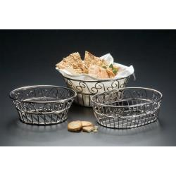 "American Metalcraft - SSLB83 - Ironworks™ 8"" Round Stainless Steel Bread Basket image"