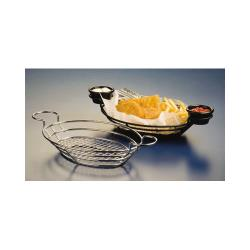 American Metalcraft - SSOV1180 - Oval Stainless Wire Basket w/Ramekin Holders image