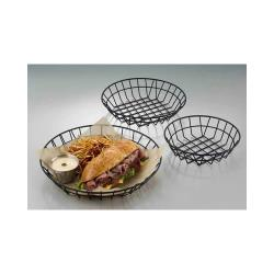 American Metalcraft - WIB80 - 8 in Round Black Wire Basket image