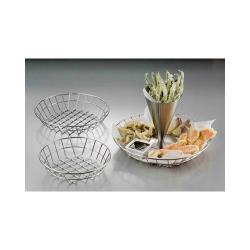 "American Metalcraft - WISS10 - 10"" Round Stainless Steel Wire Basket image"