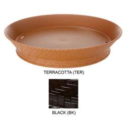 GET Enterprises - RB-880-BK - 10 3/8 in Round Black Plastic Food Basket image