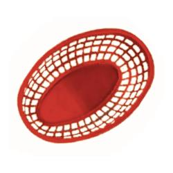 "GET Enterprises - OB-938-R - 9 1/2"" Red Oval Basket image"