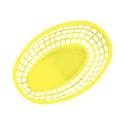 GET Enterprises - OB-938-Y - 9 1/2 in Yellow Oval Basket image