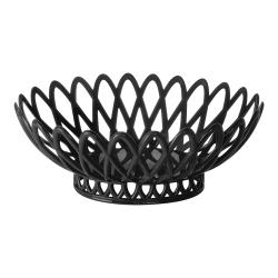 GET Enterprises - OB-940-BK - 10 in x 8 1/2 in Black Oval Basket image