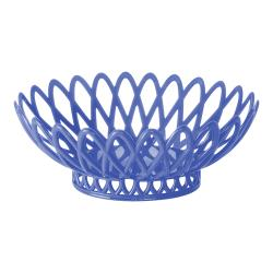 GET Enterprises - OB-940-PB - 10 in x 8 1/2 in Peacock Blue Oval Basket image