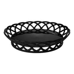 "GET Enterprises - RB-860-BK - 10"" Black Round Basket image"
