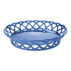 GET Enterprises - RB-860-PB - 10 in Peacock Blue Round Basket image