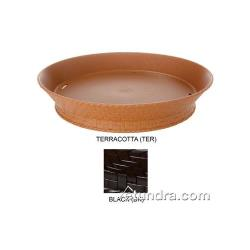 "GET Enterprises - RB-892-BK - 9"" Round Black Plastic Food Basket image"