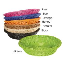 GET Enterprises - WB-1502-HY - 11 1/2 in Designer Polyweave Honey Round Basket image