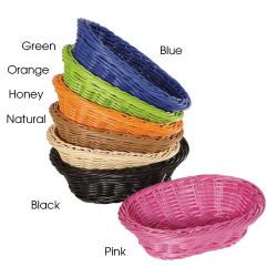 GET Enterprises - WB-1503-HY - 9 in Designer Polyweave Honey Oval Basket image
