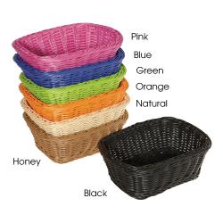 GET Enterprises - WB-1506-BK - Designer Polyweave Black 9 1/2 in Basket image