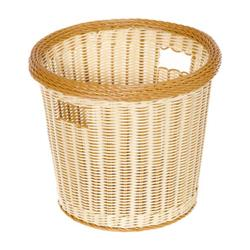 GET Enterprises - WB-1522-TT - Designer Polyweave Two-Tone 14 in Round Basket image