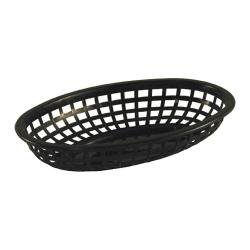 Tablecraft - 1074BK - Oval Black Plastic Baskets image