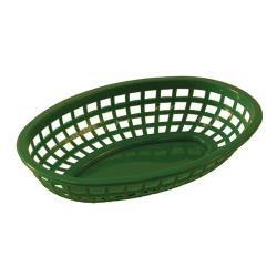 Tablecraft - 1074G - Oval Green Plastic Baskets image