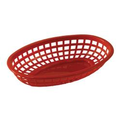 Tablecraft - 1074R - Oval Red Plastic Baskets image