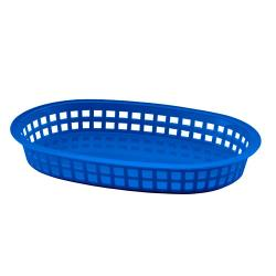 Tablecraft - 1076BL - Blue Oval Chicago Platter Basket image