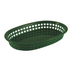 Tablecraft - 1076G - Oval Green Plastic Platter Baskets image