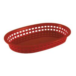Tablecraft - 1076R - Oval Red Plastic Platter Basket image