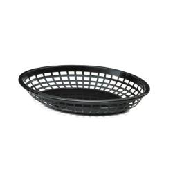 Tablecraft - 1084BK - Oval Black Plastic Serving Basket image