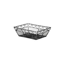 Tablecraft - BK27209 - 9 in x 6 in Black Metal Wire Basket image