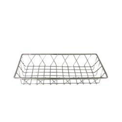 Update  - PB-146 - 14 in x 6 in Stainless Steel Wire Pastry Basket image