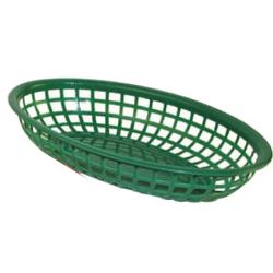 Winco - PFB-10G - Oval Green  Fast Food Basket image
