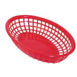 Winco - PFB-10R - Oval Red Fast Food Basket image