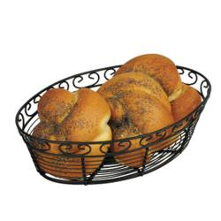 Winco - WBKG-10O - Black Wire Oval Basket image
