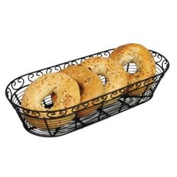 Winco - WBKG-15 - Black Wire Oblong Basket image