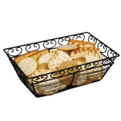 Winco - WBKG-9 - Black Wire Rectangular Basket image