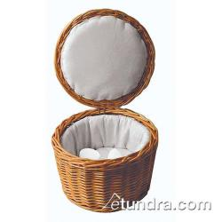 "World Cuisine - 42949-26 - 10 1/8"" Fabric-Lined Rattan Egg Basket image"