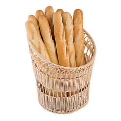 World Cuisine - 42967-35 - 13 3/4 in Round Polyrattan Baguette Basket image