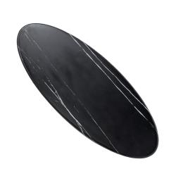 American Metalcraft - MB25 - 25 1/2 in Oval Black Marble Serving Board image