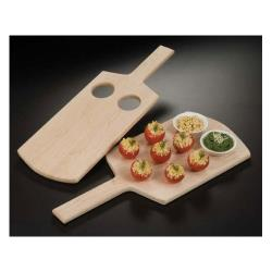 American Metalcraft - MSB1 - 18 in x 8 in Wood Serving Board w/Cutouts image