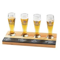 Cal-Mil - 2063 - Write-On Reclaimed Wood Beer Flight Taster Board image
