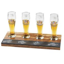 Cal-Mil - 2064 - Write-On Crushed Bamboo Beer Flight Taster Board image