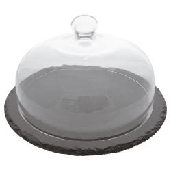 World Cuisine - A4158526 - 9 7/8 in Round Slate Serving Board with Cloche / Dome image