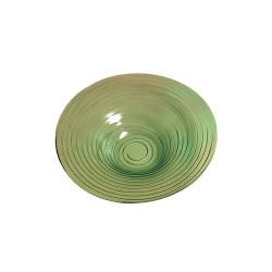 American Metalcraft - GBG19 - Glacier 18 1/2 in Green Glass Bowl image