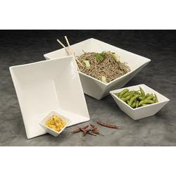American Metalcraft - WFB6 - 6 in Square White Porcelain Bowl image